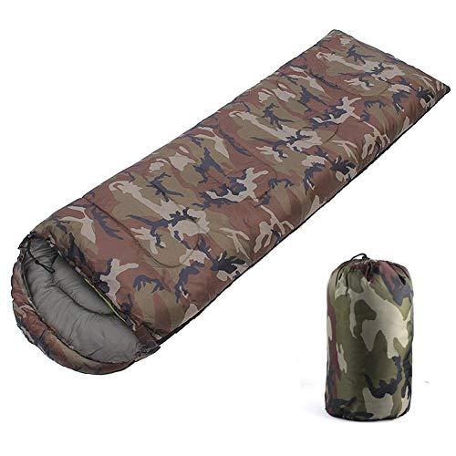 G-wukeer Sobre de Camuflaje Saco de Dormir, Cuatro Estaciones Saco de Dormir para Acampar Saco de Dormir Ligero y liviano Compacto e Impermeable