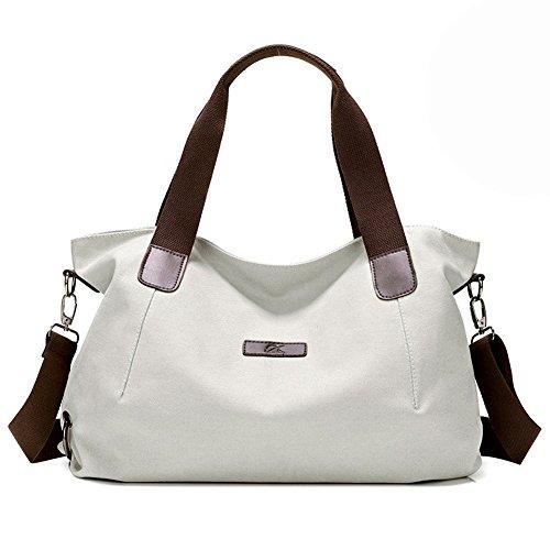 KARRESLY Women's Casual Hobo Shoulder Bags Canvas Daily Crossbody Tote Work Shopper Handbag Purses(beige)