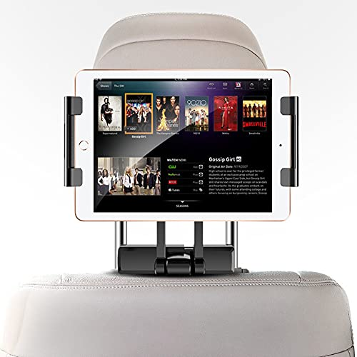 Soporte Tablet Coche,MoreChioce Soporte Reposacabezas Automóvil Telescópico Universal Soporte de Coche Que Puede Giratorio 360 ° Compatible con 2017 4.7-12.9 Inch Tablets Smart phones E-Reader,Negro