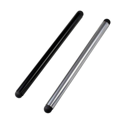 Bolígrafo de entrada para Doogee Mix (2 unidades plata negro);adecuado sólo para las pantallas capacitivas