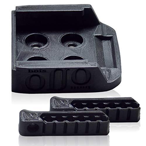 Kit de soporte de almacenamiento para batería MAKITA 18 V, 2 soportes de 6 ranuras para puntas de atornillado para instalar en atornillador LTX MAKITABRICO Y DURADERO impreso con PLA biosourcado.