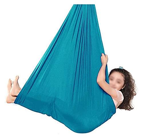 SHUHANG Sensory Kids Pod Swing Seat para interior y exterior Sensory Room Treehouse para niños con autismo TDAH (color: azul, tamaño: 700 x 280 cm)