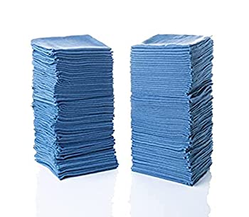Simpli-Magic 79184 Shop Towels 14 x12  50 Pack Blue
