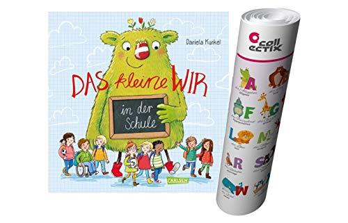 Das kleine WIR in der Schule (Hardcover) + ABC Alphabet Lern-Poster mit Tieren - Humorvolles, lehrreiches Bilderbuch