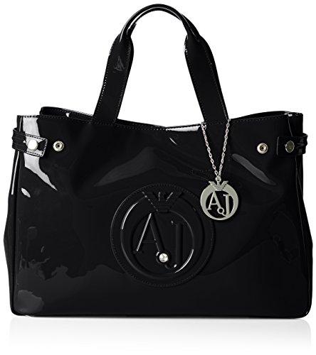 Armani Jeans922591CC855 - Borsa shopper Donna, Nero (Schwarz (NERO 00020)), 26x14x40 cm (B x H x T)