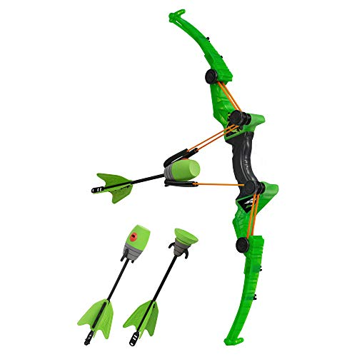 Zing Air Storm Z-Tek Bow with 3 Foam Arrows (2 Foam Tip and 1 Suction Cup) - Green - Foam Toy Bow...