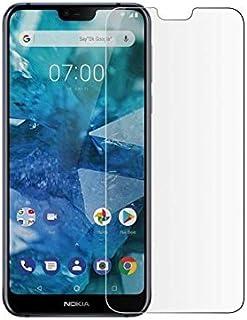 شاشة حماية من الزجاج المقوى الشفاف لموبايل نوكيا 7.1 بلس 5.84 بوصة 2.5D