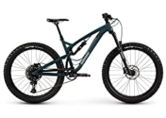 130mm Level Link rear suspension 27.5+ Blanchard, tubeless-ready wheels and grippy 2.8-inch WTB Vigilante tires 130mm of smooth suspension, courtesy of SR Suntour Aion fork and Suntour Edge R rear shock Boost 148 rear thru-axle and Boost 110 thru-axl...