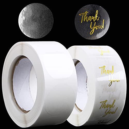 1000pcs 2,5cm Papel Pegatinas Gracias Etiquetas Adhesivas Redondas Thank you Decoración Cajas...