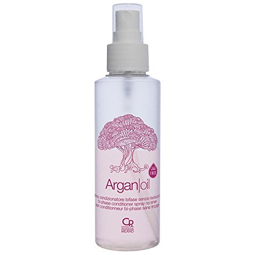 Argan Oil - Leave-in Conditioner Spray - Trattamento Anticrespo Professionale Spray con Olio di Argan - Balsamo per Capelli Secchi e Crespi - 125 ml