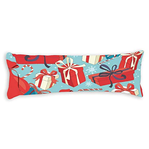 CiCiDi Side Sleeper Pillow Cover 40x145 cm Merry Christmas Breathable Cushion Covers with Zip Cotton and Polyester