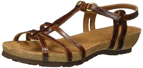 Panama Jack Damen Dori Clay Offene Sandalen mit Keilabsatz, Braun (Bark), 36 EU