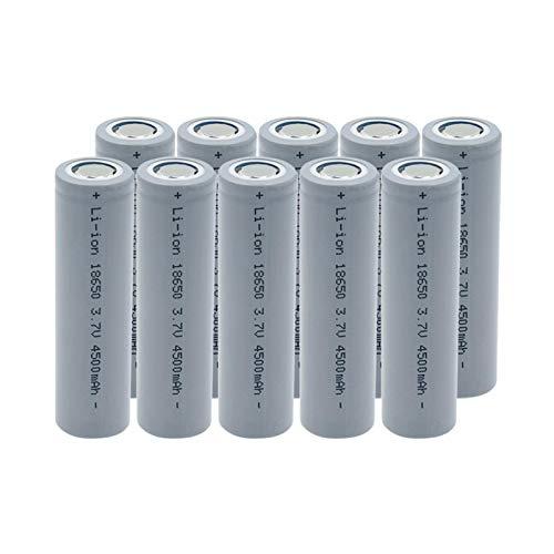 yfkjh Alta potencia 18650 3.7 V 2800 mAh batería de iones de litio, con dos pestañas de bricolaje Icr celdas para cámara de luz Led Mini ventilador 10 piezas