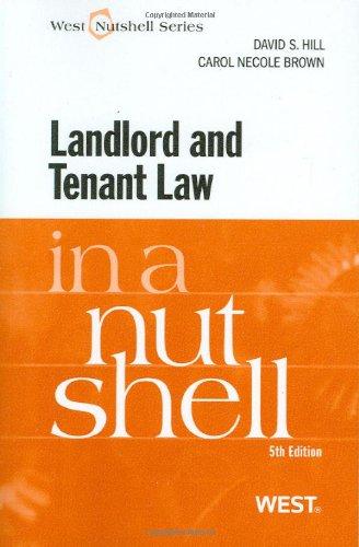 Landlord and Tenant Law in a Nutshell (Nutshells)