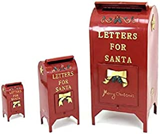 TisYourSeason Life-Size Christmas Outdoor Santa Mailbox Iron Commercial Christmas Decoration Letters for Santa Mailbox Set of 3