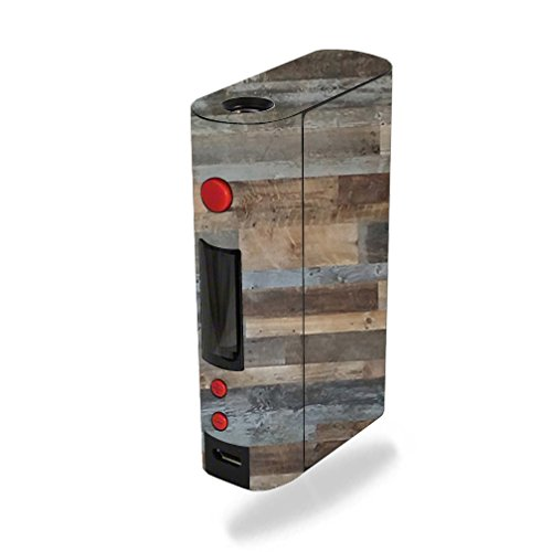 MightySkins Skin Compatible with Kanger KBOX 200W – Gray Wood | Protective, Durable, and Unique Vinyl Decal wrap Cover | Easy to Apply, Remove, and Change Styles | Made in The USA