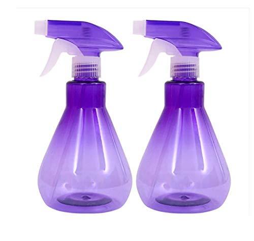 Dracol Botellas pulverizadoras de plástico transparente de 500 ml, para limpieza de jardín, 2 unidades, color morado