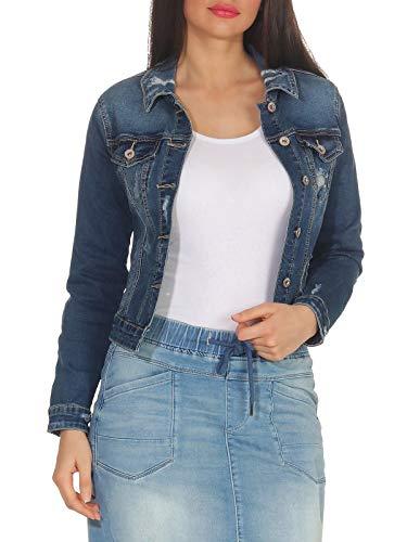 Hailys Damen Jeans Jacke Enna leichte Übergangsjacke QI-1809008 Blue L