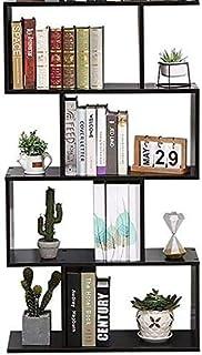 Goliraya Libreria Divisorio in Truciolato Nero Lucido,Librerie Moderne,Mobili Soggiorno Moderni,Libreria da Muro,Mobile Soggiorno Moderno,Scaffale Nero,Libreria Design 97,5x29,5x100 cm