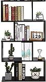 Etnicart – Librería Estantería Wengué - Oficina - Diseño moderno madera - 70 x 23,5 x 127,5 cm...