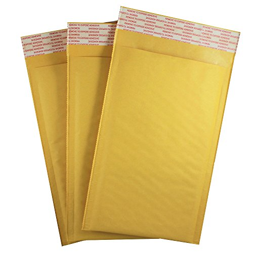 5' X 9' #00 Kraft Bubble Mailers Padded Shipping Envelopes 100 Pack