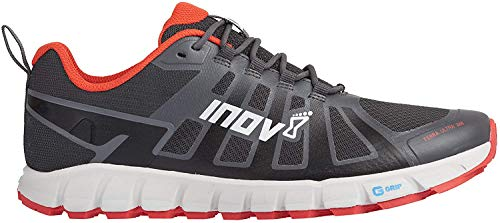 Inov-8 Mens Terraultra 260 | Minimalist Trail Running Shoe | Zero Drop | Perfect for Long Distance Ultra Running | Grey/Red M8.5/ W10