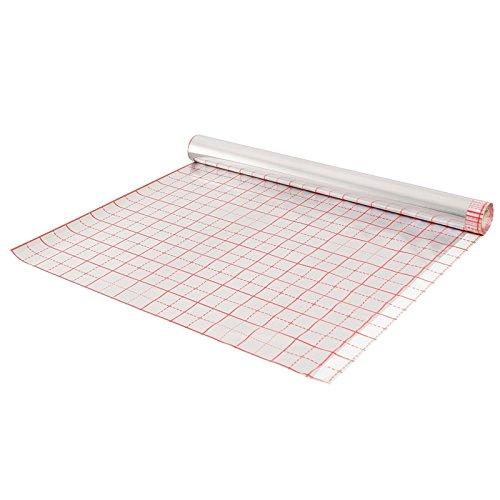 Strotex Hotfloor Rasterfolie für Fußbodenheizung 50m2 Alufolie mit Verlegeraster