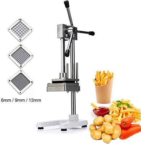 SHIJIAN Kartoffelschneider, Edelstahl Kartoffelschneider Fruchtgemüsehobel Französisch Fry Chopper-Tool