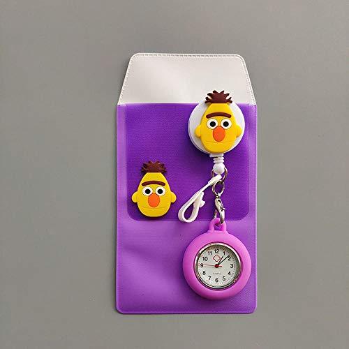 Cxypeng KB002 - Reloj de bolsillo retráctil de silicona para enfermeras