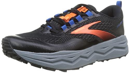 Brooks Caldera 5, Scarpe da Corsa Uomo, Black/Orange/Blue, 44 EU