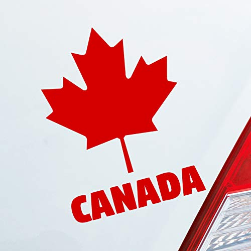 Hellweg Druckerei Auto Aufkleber Kanada Canada Ahornblatt Maple Leaf Urlaub Car Sticker Folie Rot