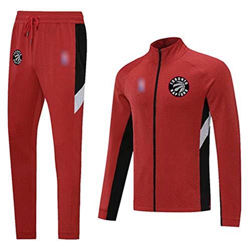 Z/A Toronto Raptors Mens Tracksuits Trajes Completos Jogging Bottings Gym Sweat Trajes Soporte Collar Chaqueta Deportiva Pantalones,S