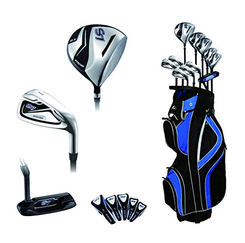 Precise S7 All Graphite Complete Golf Clubs Package Set Driver, 3, 5 Fairways, 24, 27 Hybrids, S.S. 7-SW Irons, Putter, Cart Bag - Choose R Flex or Senior Flex (Regular)