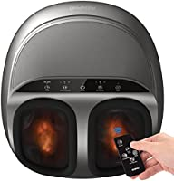 RENPHO Foot Massager Machine with Heat and Remote, Shiatsu Deep Kneading, Delivers Relief for Tired Muscles and Plantar...