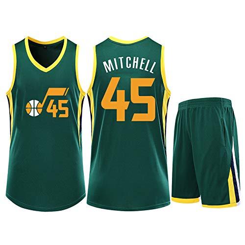 ZGJY Chaleco De Jersey De Baloncesto,Donovan Mitchell No.45