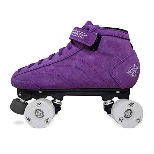 Bont Roller Skates | Suede Boot with Led Light Up Wheels | Roller Skates | Indoor and Outdoor | Youth - Boys - Girls - Men - Women (Purple, 7/39)