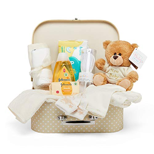 Baby Gift Set - Neutral Hamper Full of Baby Products in Cream Keepsake Box