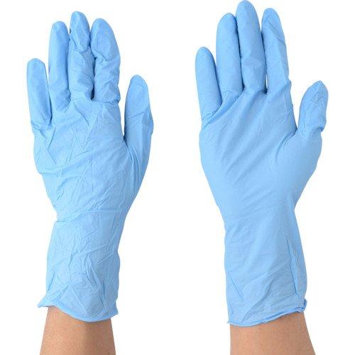 川西工業 ニトリル極薄手袋ロング 粉なし 100枚入 #2038 ブルー L