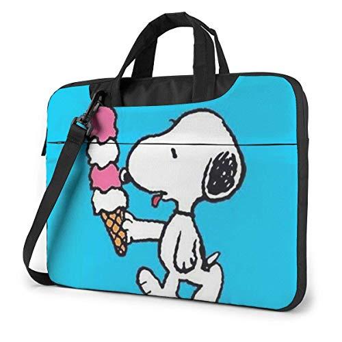 15.6 Inch Laptop Bag Snoopy with Icecream Laptop Briefcase Shoulder Messenger Bag Case Sleeve
