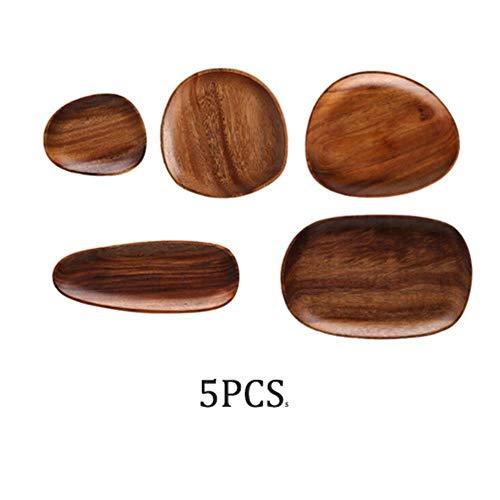 Geheel hout Lovesickness wood Onregelmatige ovale massief houten pan Fruitschaal Schotel Theeblad Dessert Eettafel Gebruiksvoorwerp, G.