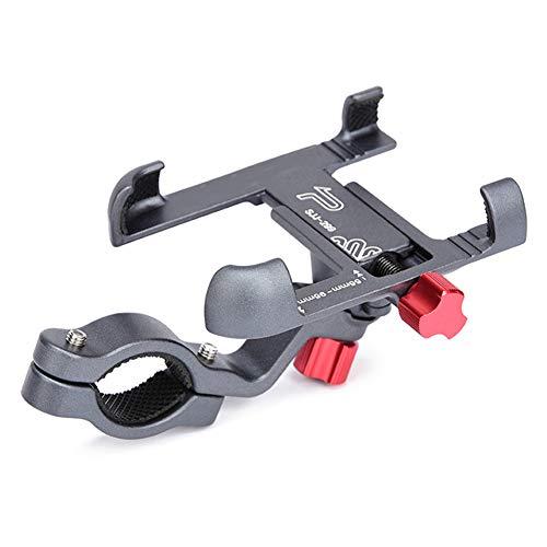 Soporte para teléfono móvil de aleación de aluminio, ajustable, no se desliza, para bicicleta