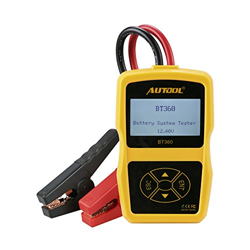 autool Akku System Tester autool BT36012V Unterstützung 2000EN/CCA Akku Ladekabel System Tester