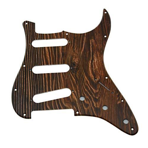KAISH 11 agujeros Strat estilo guitarra 3D golpeador plástico impreso puente invertido con tornillos patrón de madera para Fender Jimi Hendrix