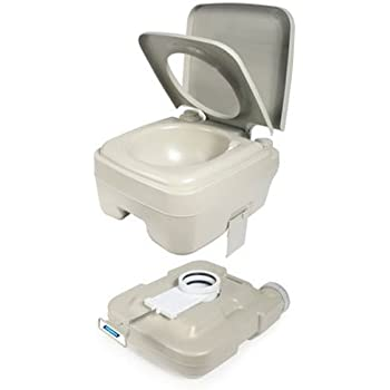 Camco 2.6 Gallon 2.6-Gallon Portable Travel Toilet-Designed for Camping, RV, Boating and Other Recreational Activities (41531)