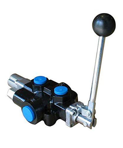 Chief Compact Log Splitter Valve: 1 Spool, 4-Way 3-Position Spring Center, 18 GPM, 3625 PSI, 3/4' NPT Inlet/Outlet Ports and 1/2' NPT Work Ports, Handle Detent: Away from Valve, 220997