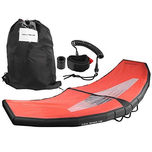 FEBT Planche de Surf Gonflable Kitesurf Windsurf E-Board Kite de Surfeur Gonflable portatif Ailes de Feuille d'aile Léger pour l'équipement de Surf de Sports Nautiques Planche de Surf Adulte(L)