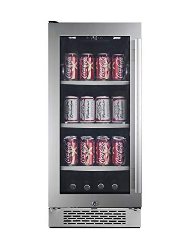 "Avallon ABR151SGLH 86 Can 15"" Built-In Beverage Cooler - Left Hinge"