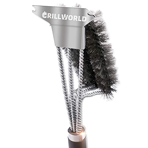 GRILLWORLD Grill Brush for Gas Grill
