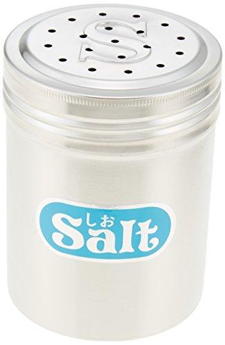 遠藤商事 業務用 調味缶 大 S缶 (しお) [調味料入れ] 18-8ステンレス 日本製 BTY49002