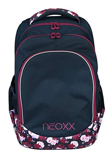 Neoxx Fly Schulrucksack My Heart Blooms I Schulranzen für die weiterführende Schule I Rucksack
